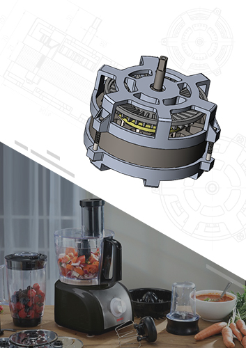 Blender Brushless DC Motor