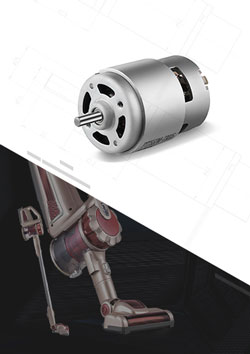Coreless Vacuum Cleaner Brushed DC Motor