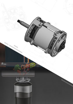 Kitchen Food Garbage Disposer Brushless DC Motor