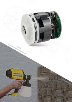 Paint Spray Gun Brushless DC Motor