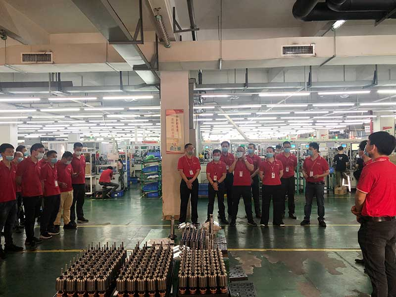 "Shenzhen Power Motor the sixth ""overhaul skills contest""1"