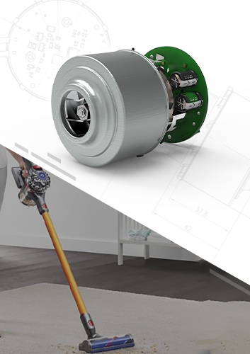 Coreless Vacuum Cleaner Brushless DC Motor